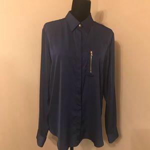 Lauren Ralph Lauren blue blouse size XL